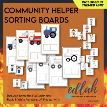 Community Helper Sorting Boards