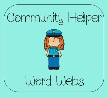 Community Helper Word Webs