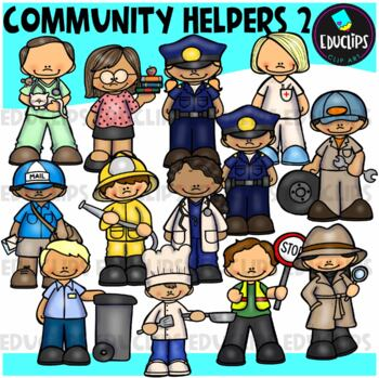 Community Helpers 2 Clip Art (Educlips Clipart)