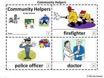 Community Helpers 2 Emergent Readers