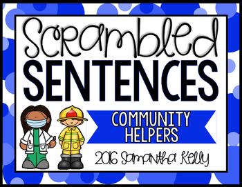Community Helpers Scrambled Sentence Station