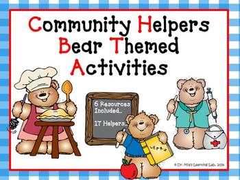 Community Helpers Activities & Literacy Centers (Bear Themed)