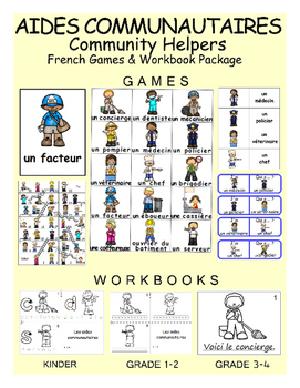 Community Helpers / Aides communautaires FRENCH Workbook &