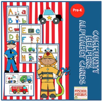Community Helpers Alphabet Cards