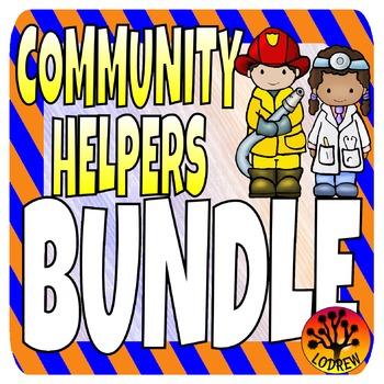 Community Helpers Bundle Math Literacy Centers Fine Motor