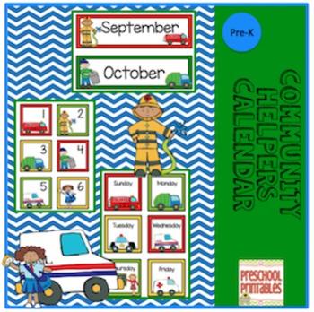 Community Helpers Calendar