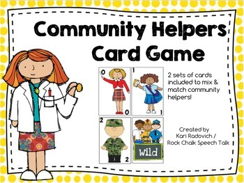 Community Helpers Card Game