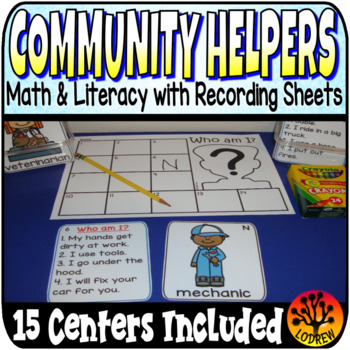 Community Helpers Centers Garbage One To One Correspondenc