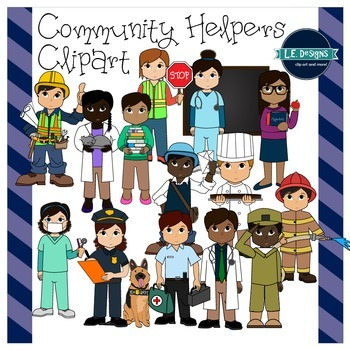 Community Helpers Clipart {L.E. Designs}