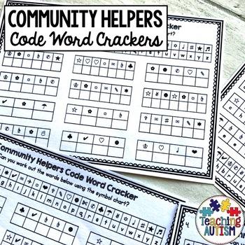 Community Helpers Code Word Cracker