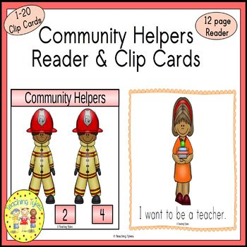 Community Helpers Count and Clip Task Cards