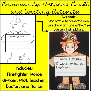 Community Helpers Craft and Writing