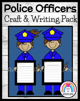 Community Helpers Craft and Writing: Police Officers