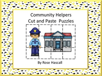 Community Helper Printable Cut and Paste Puzzles For Cente