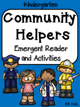 Community Helpers Emergent Reader /Color by Number / Writi