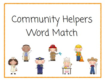 Community Helpers File Folder