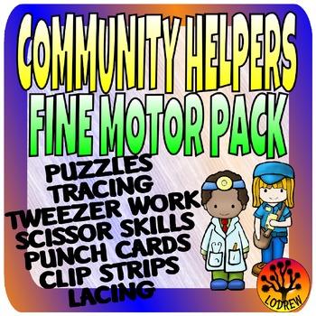 Community Helpers Fine Motor Centers Preschool SPED K