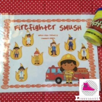 Community Helpers-Fire Fighter Vocabulary SMUSH mats
