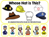 Community Helpers Hats Adapted Interactive Book Special Ed