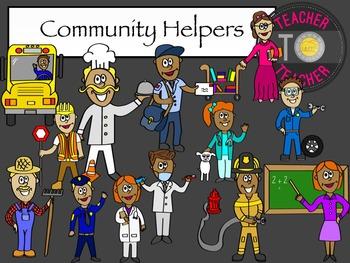 Community Helpers - Jobs Clip Art {TeacherToTeacher Clipart}
