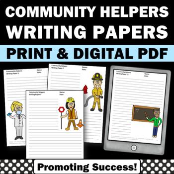 Community Helpers Creative Writing Paper