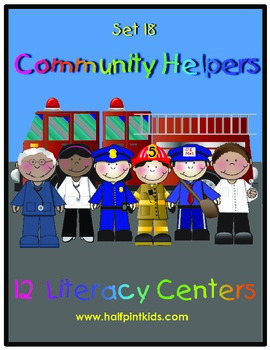 Community Helpers Literacy Centers: Half-Pint Readers Set 18