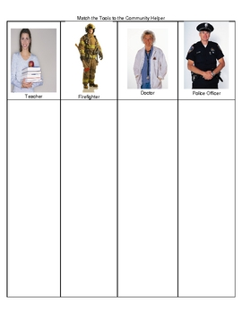 Community Helpers: Match the Tools