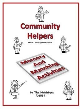 Community Helpers Matching Activities