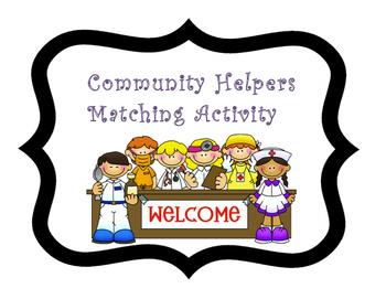 Community Helpers Matching Activity/ File Folder