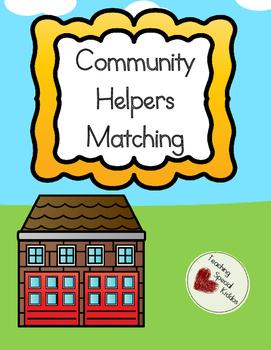 Community Helpers Matching Adaptive Book/ File Folder Games