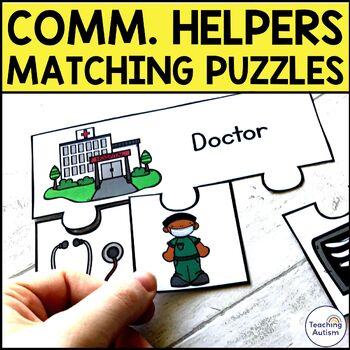 Community Helpers Matching Jigsaw