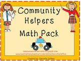 Community Helpers Math Pack (common core aligned)
