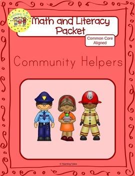 Community Helpers Worksheets Emergent Reader Task Cards