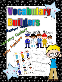 *Print and Play* Vocabulary Builders - Memory Games - Comm