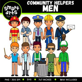 Community Helpers - Men Digital Clipart