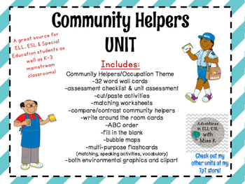 Community Helpers / Occupation Language Unit