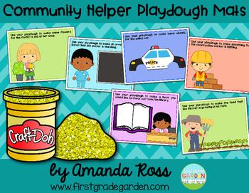 Community Helpers Playdough Mats