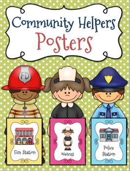 Community Helpers Posters  l  Community Building Posters {