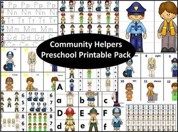 Community Helpers Preschool Printable Pack