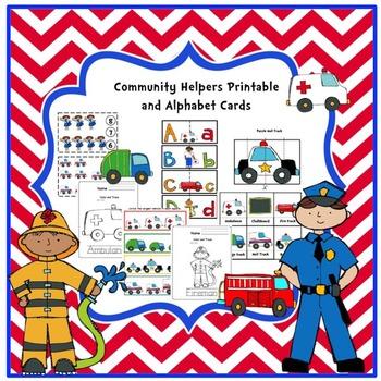 Community Helper's Printable & Alphabet Cards