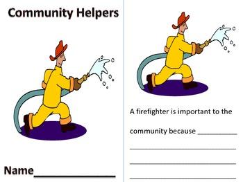 Community Helpers Printable Book