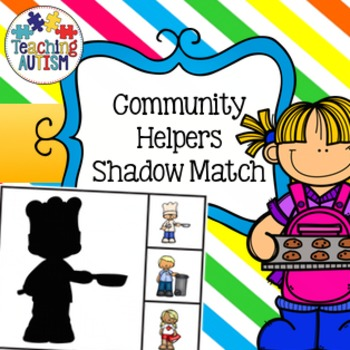 Community Helpers Shadow Matching Task Cards