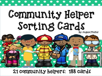 Community Helper Sorting Cards