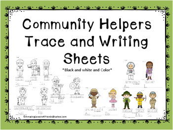 Community Helpers Trace and Write Sheets  (NO PREP)