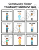 Community Helpers Vocabulary Folder Game for students with Autism