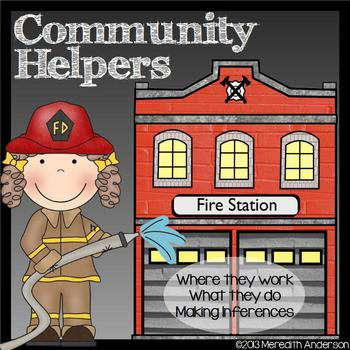 Community Helpers: Where They Work, What They Do, Making I
