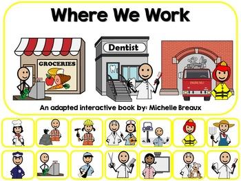 Community Helpers Where We Work Adapted Book Special Educa