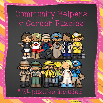 Career Exploration and Community Helpers Sorting Puzzles C