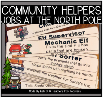 Community Helpers at The North Pole- A Writing Packet abou