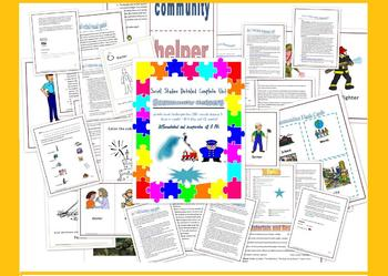 Community Helpers unit with lessons and supplements